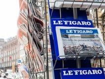 Le Figaro som anmäler presidents- invigning för överlåtelseceremoni Arkivfoto