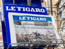 Le Figaro som anmäler presidents- invigning för överlåtelseceremoni Royaltyfri Bild