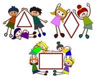 Le figure del Kiddie hanno impostato 2 Fotografie Stock Libere da Diritti