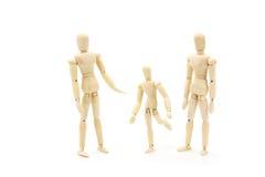 Le figure di legno del manichino hanno congiunto il modello della bambola Fotografie Stock Libere da Diritti