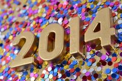 le figure dorate da 2014 anni Immagini Stock Libere da Diritti