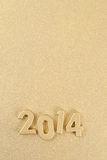 le figure dorate da 2014 anni Fotografie Stock Libere da Diritti