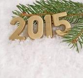le figure dorate da 2015 anni Fotografie Stock