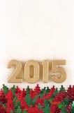 le figure dorate da 2015 anni Fotografia Stock