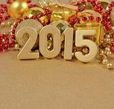 le figure dorate da 2015 anni Immagine Stock Libera da Diritti