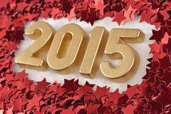 le figure dorate da 2015 anni Immagini Stock Libere da Diritti