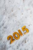 le figure dorate da 2015 anni Fotografia Stock Libera da Diritti