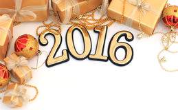 le figure dorate da 2016 anni Fotografia Stock Libera da Diritti
