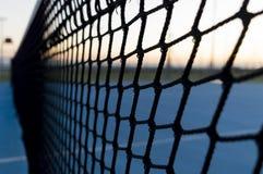 Le filet de tennis Photos stock