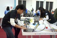 Le Filippine team all'olimpiade del robot in Soci Immagine Stock Libera da Diritti