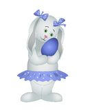 Le fille-daine-lapin avec l'oeuf Photographie stock