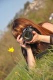Le fille-photographe Photographie stock libre de droits