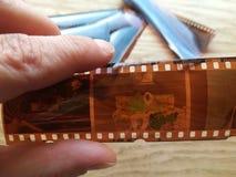 Le film des négatifs Images stock