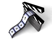 le film dimensionnel d'isolement barre trois Photographie stock