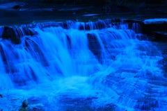 Cascades de bleu de filtre Photos libres de droits