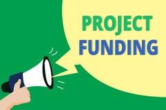 Le financement de projet des textes d'écriture de Word Le concept d'affaires pour payer commencent dans l'ordre à le rendre plus  illustration de vecteur