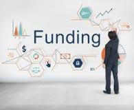 Le financement investissent le concept financier de budget d'argent Image libre de droits