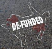 Le financement perdant financé par la De perdent le contour Illustr de corps de craie d'argent Photo stock