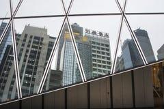 Le finestre dei grattacieli in Hong Kong Fotografie Stock Libere da Diritti