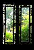 Le finestre scolpite Immagine Stock Libera da Diritti