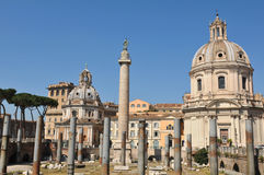 Le fléau de Trajan, Rome Photographie stock libre de droits