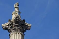 Le fléau du Nelson, Londres Photos libres de droits