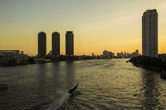 Le fleuve Chao Phraya Photographie stock