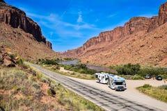 Le fleuve Colorado chez Moab, Utah, Etats-Unis Images libres de droits