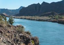 Le fleuve Colorado en aval de Parker Dam image stock