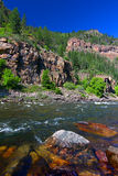 Le fleuve Colorado en canyon de Glenwood Image libre de droits