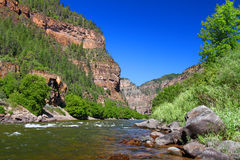 Le fleuve Colorado en canyon de Glenwood Photographie stock libre de droits
