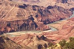 Le fleuve Colorado en parc national de canyon grand Photos libres de droits