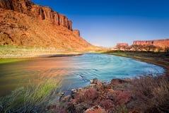 Le fleuve Colorado en Utah Photos libres de droits