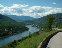 Le fleuve Columbia, traînée AVANT JÉSUS CHRIST, Canada. Images libres de droits