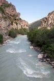 Le fleuve dans les montagnes Photo libre de droits
