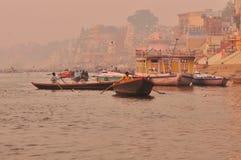 Le fleuve de Ganges. l'Inde Photographie stock libre de droits