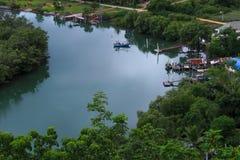 Le fleuve donnent sur Image libre de droits