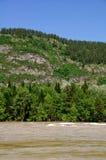 Le fleuve en montagnes à l'été Photographie stock