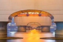 Le fleuve Han avec le pont de Seongsan à night_1 Images libres de droits