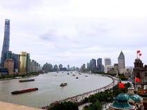 le fleuve Huangpu Images stock