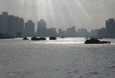Le fleuve Huangpu de Changhaï Images libres de droits
