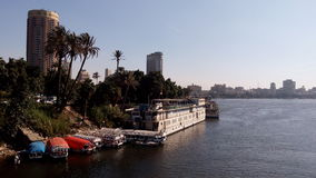 Le fleuve le Nil au Caire Photo stock
