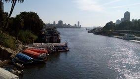 Le fleuve le Nil au Caire Photographie stock libre de droits