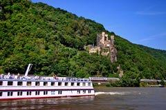 Le fleuve le Rhin Image libre de droits