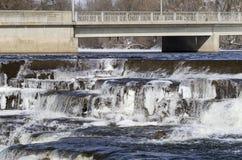 Le fleuve Mississippi, Almonte, Ontario, Canada photos libres de droits