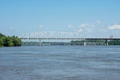 Le fleuve Mississippi puissant images libres de droits
