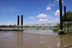 Le fleuve Pô en inondation Photos libres de droits