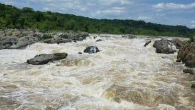 Le fleuve Potomac chez Great Falls banque de vidéos