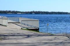 Le fleuve StLaurent dans le Canada Images libres de droits