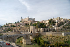 Le fleuve Tage de Toledo en Espagne image stock